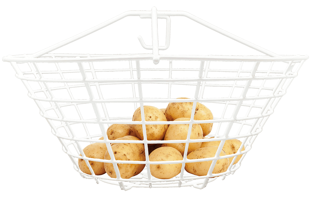 dry matter basket with potatoes