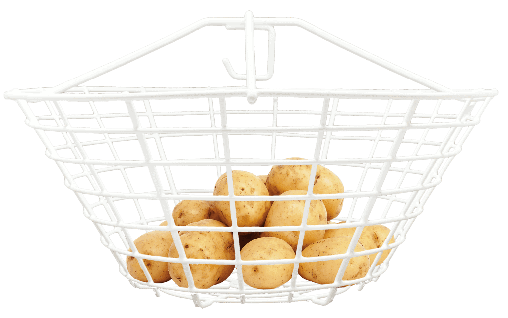 zeal manual hydrometer basket holds potatoes for testing