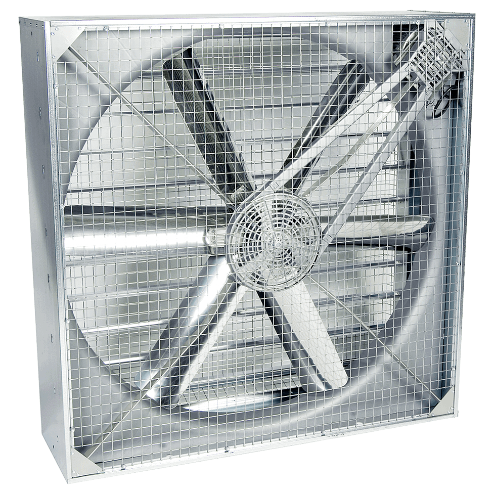 Martin Lishman StoreVent crop store building ventilation system uses high airflow fans