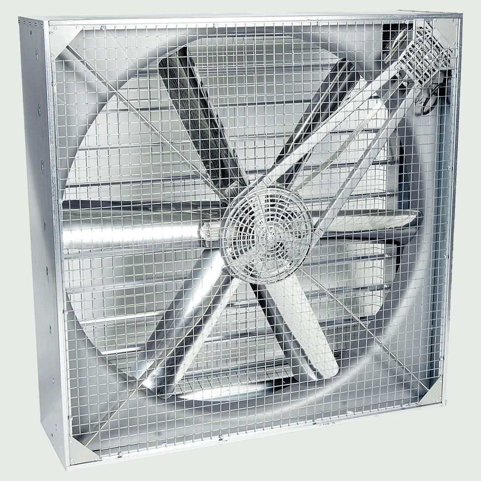 Martin Lishman StoreVent crop store building ventilation system uses high airflow fans