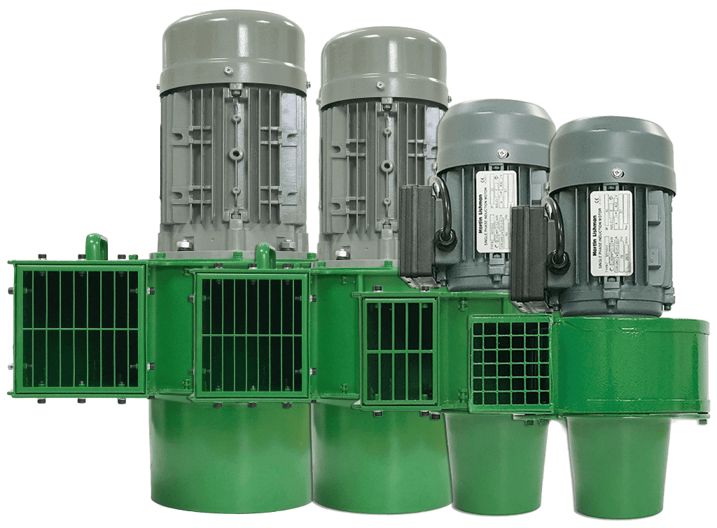 Martin lishman Agricultural grain cooling fans come in a variety of sizes and power options