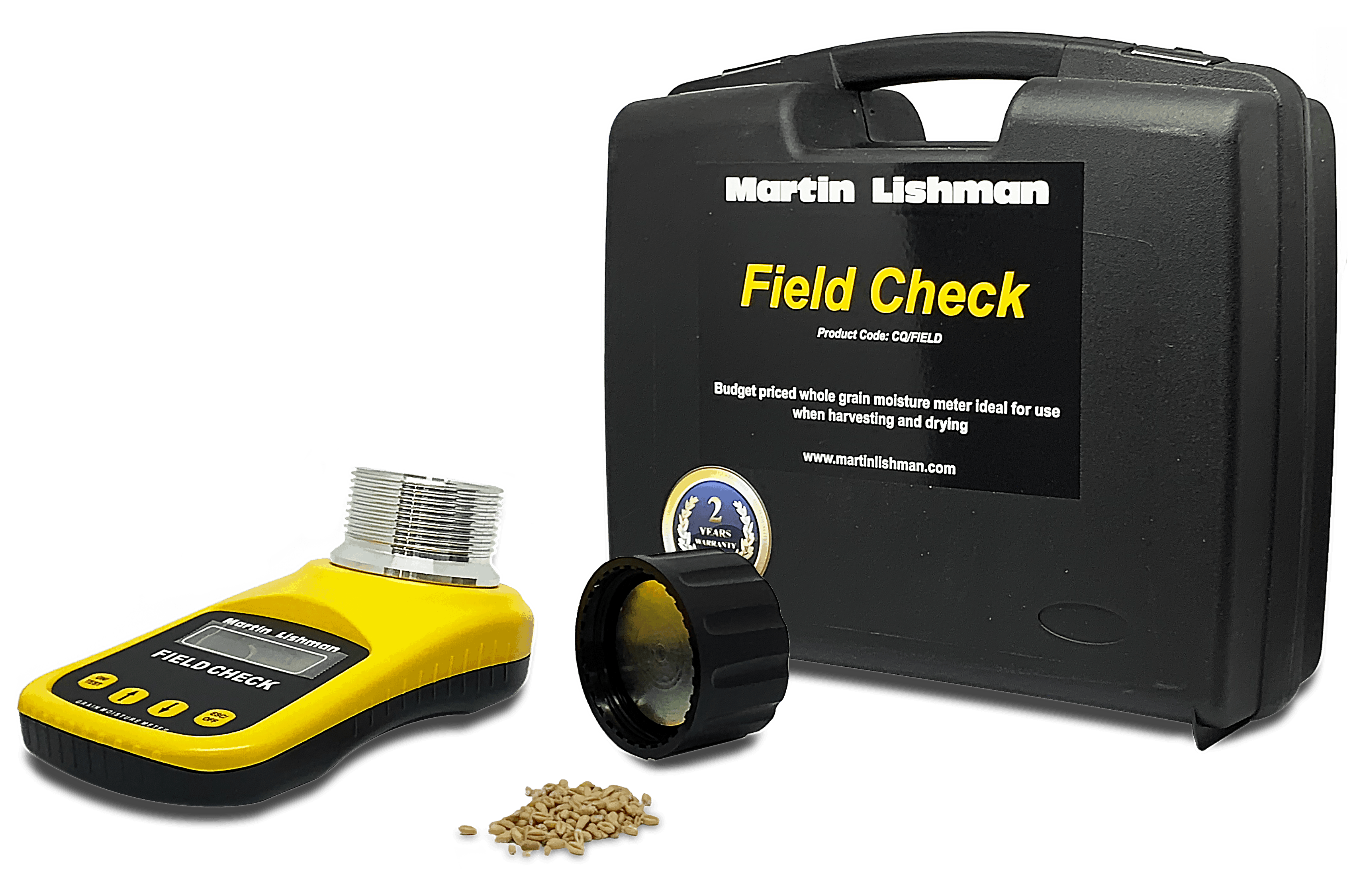 Martin Lishman field check moisture meter is ideal to leave in the combine for quick testing