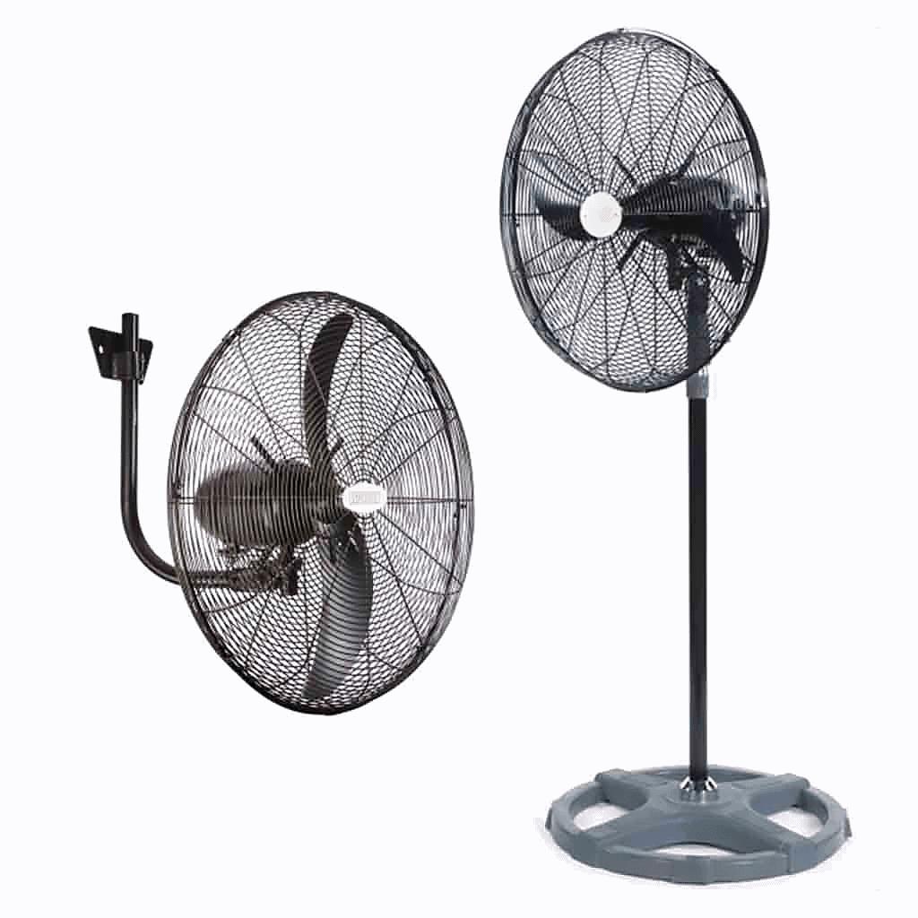 livestock building ventilation system floor standing fans