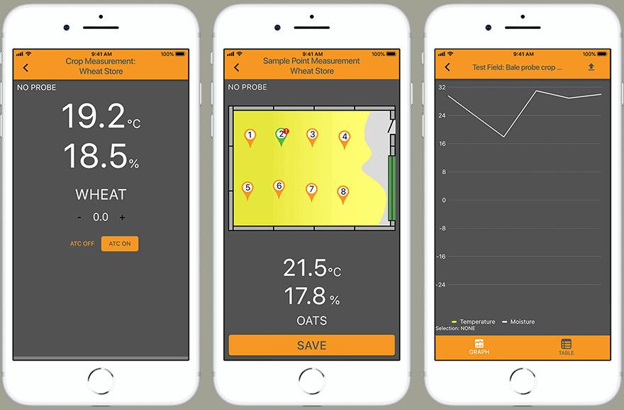 Protimeter Grainmaster i2-s Pflanzenfeuchtemessgerät iOS App