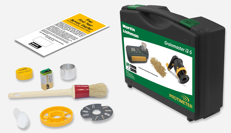 Der Protimeter Grainmaster i2-s wird mit einem kompletten Wartungskit geliefert