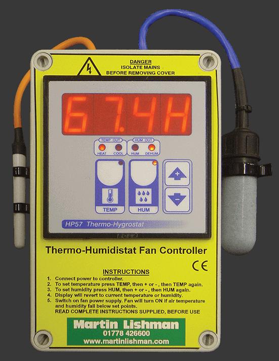 Thermo Humidistat Lüftersteuerung