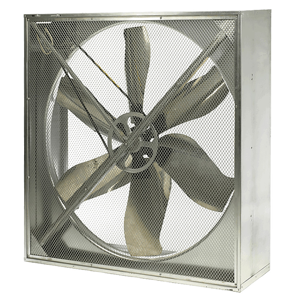 livestock building ventilation system belt drive fan