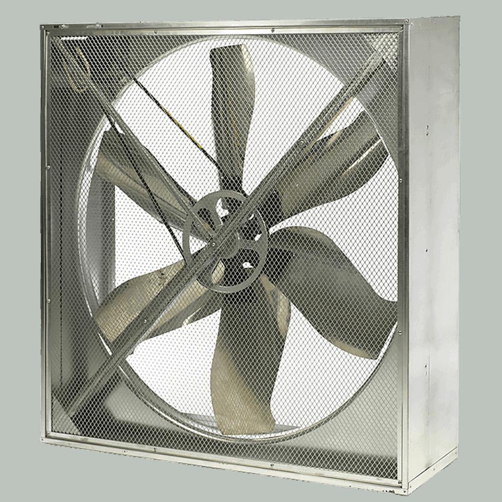 livestock building ventilation system belt drive fan