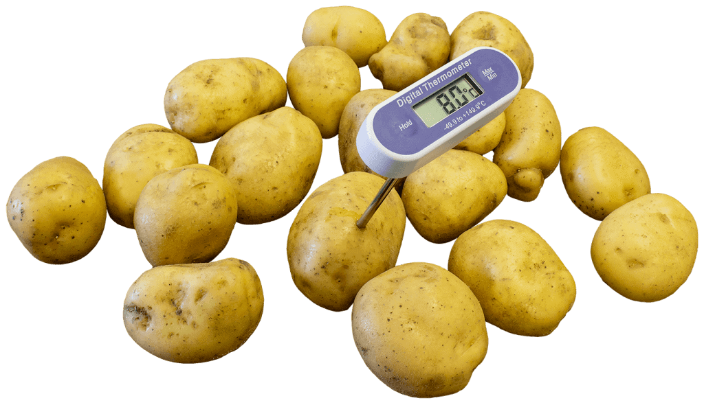 potato temperature monitoring