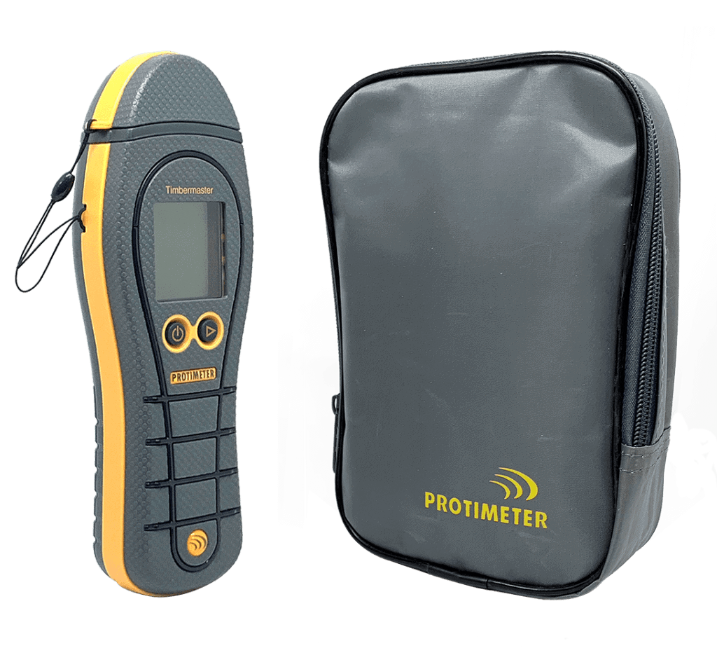 Protimeter Timbermaster woodchip moisture meter comes with a carry case