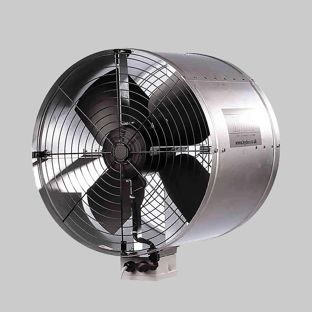 livestock building ventilation system turbulator