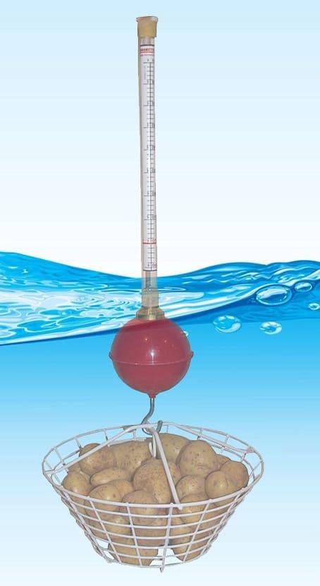 Zeal manual hydrometer takes dry matter readings in water